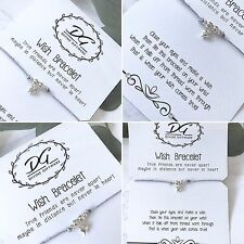 Wish Bracelet  Friendship Card Jewellery Gift Birthday/Wedding/Christmas J09