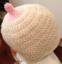 HANDMADE IN UK Crochet Breastfeeding Boob Hat All sizes Photo Prop Baby Shower