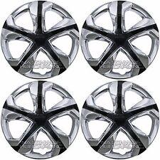 "4 Chrome & Black 06-17 Honda Civic 16"" Hub Caps Full Wheel Covers fit Steel Rims"