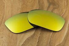 Metallic 24k Gold Iridium Mirrored Polarized Sunglass Lenses for Oakley Two Face