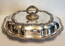 Vintage Silver on Copper Serving Dish with Lid,  Sheffield, Made In England #2