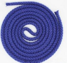 5mm Natural Cotton Rope 8 Strand Braided Long Twisted Cord Twine Sash Accessory Dark Blue 2m