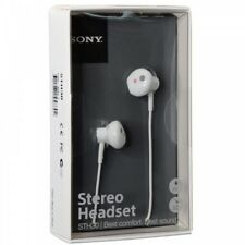 Genuine Sony STH30 Waterproof Stereo Handsfree Earphones In Earpod Headset White