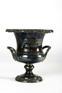 CHAMPAGNE/WINE/ICE COOLER/BUCKET SILVER PLATE Trophy Cup Horse Racing 1969