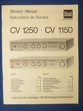 DUAL CV1250 CV 1150 NTEGRATED AMPLIFIER SERVICE MANUAL ORIGINAL FACTORY ISSUE