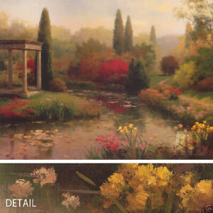 "40W""x30H"" GARDEN POND by HAIBIN - SERENE AND PEACEFUL CANVAS"
