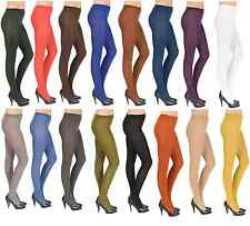 Thick Opaque 60 Denier Tights Various Colours,  Sizes S-XL