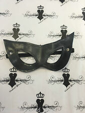 R543 Latex Rubber Mask Blindfold WESTWARD BOUND Fetish wear Bondage BLACK
