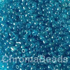 50g perline di vetro Turchese Trasparente Lustered approssimativamente 3mm