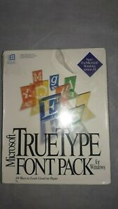 Vintage Microsoft True Type Font Pack For Windows - NEW And Sealed