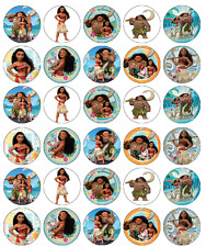 30x Disney Moana Cupcake Toppers Edible Wafer Paper Fairy Cake Toppers