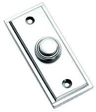Cromo Satinado Rectangular Estilo victoriano puerta campana Push/Switch (SCP183)