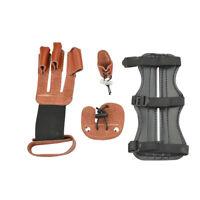 Archery Arm Guard Finger Tab Glove Fingerguards Protector Gear Kit Bow Shooting