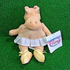 NEW Disney Store Exclusive HIPPO FANTASIA Bean Bag Plush Toy - FREE Shipping