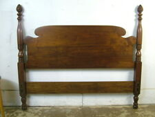 Vintage Chippendale Solid Cherry Full Queen Pineapple Post Bed Headboard