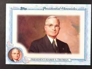 2015 Topps Archives Presidential Chronicles #PCHST Harry S. Truman - NM-MT