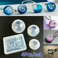 4PCS Silicone Mold Craft DIY Pendant Jewelry Making Universe Ball UV Resin Decor