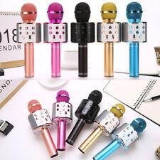 Wireless Bluetooth Karaoke Microphone Stereo Mic KTV USB Speaker Player WS-858 @