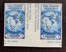 US Stamps, Scott #768a 1935 Byrd Expedition 3c Vert Gutter Pr. No gum as issued
