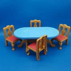 Little Tikes Grand Mansion Dollhouse Dining Table 4 Chairs Set 5526 Dining Room