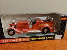 Ertl 1937 Ahrens-Fox Firetruck Bank John Deere Company 1/30 Scale 1993
