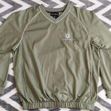 FootJoy Performance Lightweight Windshirt Pullover V Neck Jacket Green Large New