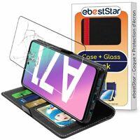 Housse + VERRE Trempé Samsung Galaxy A71 A715F Etui Portefeuille Porte-Cartes