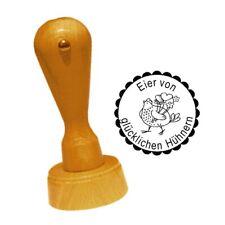 Stempel « Eier von glücklichen Hühnern 01 » Herz Henne Hühner Huhn Ei Hühnerhof