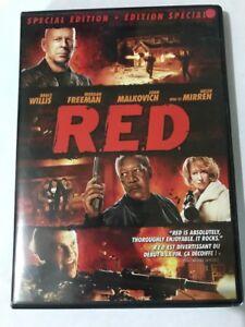 Red (DVD, 2011) Special Edition. Canadian Bruce Willis Freeman Malkovich Mirren
