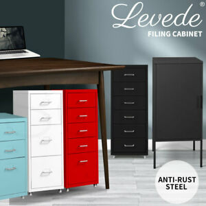 Levede Filing Cabinet Cupboard Office Files Storage Cabinets Steel Rack Home