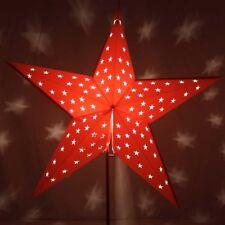 Red 3D Paper Star Light (with Lightbulb)