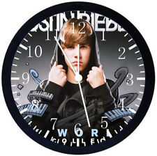 Justin Bieber Black Frame Wall Clock Nice For Decor or Gifts Y81