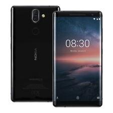 """NEUF Nokia 8 Sirocco (TA-1005) 5.5"""" 6 Go / 128 Go LTE Débloqué NOIR"""
