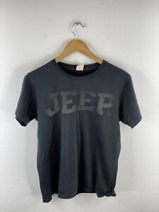 Jeep Heritage Men's T Shirt Size S Black Short Sleeve Crew Neck Athletic Casual