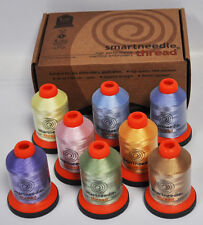 Smartneedle Embroidery Threads Collection 8 Colors With A Bobbins Pastels
