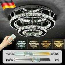 Luxus 36W LED Kristall Deckenleuchten Schlafzimmer Dimmbar Kronleuchter Leuchte