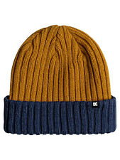 DC SHOES MEN BEANIE HAT.FISN n DESTROY CUFF RIBBED INDIGO WOOLLY KNIT 7W 3004 BS