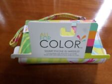 New Smart Phone ID Wristlet Bag All for Color Yellow Floral iPhone 5 or 4/4s