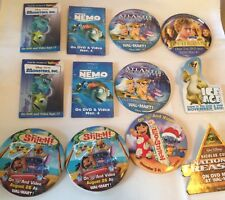 Disney Pixar Wallmart Movie DVD Promotional Pins Ice Age Nemo monsters stitch