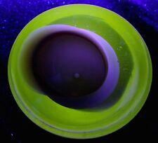 7 lb Vintage Murano Cenedese Seguso Sommerso Art Glass MCM Geode Vaseline Bowl