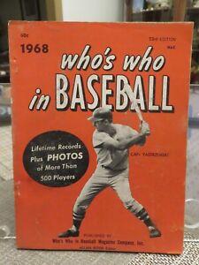 WHO'S WHO IN BASEBALL 1968  (Carl Yastrzemski on the cover)