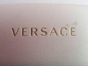 Versace White Clam Shell Hard Case Snap Shut Eye Glass Case