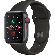 Apple Watch Series 5 44mm Space Gray Alum, Black Sport Band (Cellular Unlocked)