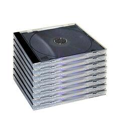 Vact 10.4mm Standard Size CD/DVD/Blu-Ray Jewel Case - 10 Pack BRAND NEW
