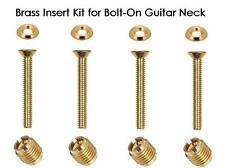 USA MADE GeetarGizmos GOLD BRASS Guitar Neck Repair Insert Kit Tool Bolt-On Neck
