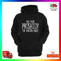One More Prosecco Unicorn Hoodie Hoody Wine Gift Mens Ladies Funny Cheeky Cute