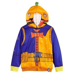 Fortnite Cosplay Costume Zip-Up Hoodie Size8 - 10/12 - 14/16 NWT $50 RV