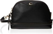 NWT COACH F37863 IVIE Crossbody Bag In BLACK/LIGHT GOLD Pebbled Leather