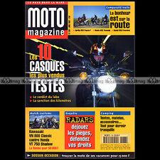MOTO MAGAZINE N°138 HONDA VT 750 C2 SHADOW PC 800 PACIFIC COAST 600 TRANSALP '97