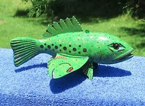 Ice Fishing Decoy Three headed fish No.1  by Phillip A. Cates